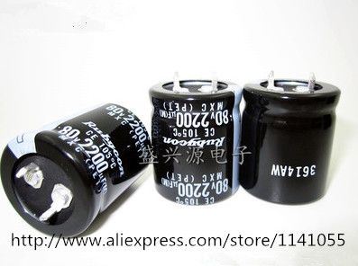 2200uf 80v 80v 2200uf Aluminum Electrolytic Capacitors Size 25 30 Binoculars Passive Components