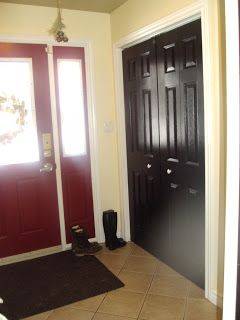 Interior Doors Painted Black! Interior Front Door Painted Red! Walk With My  Family