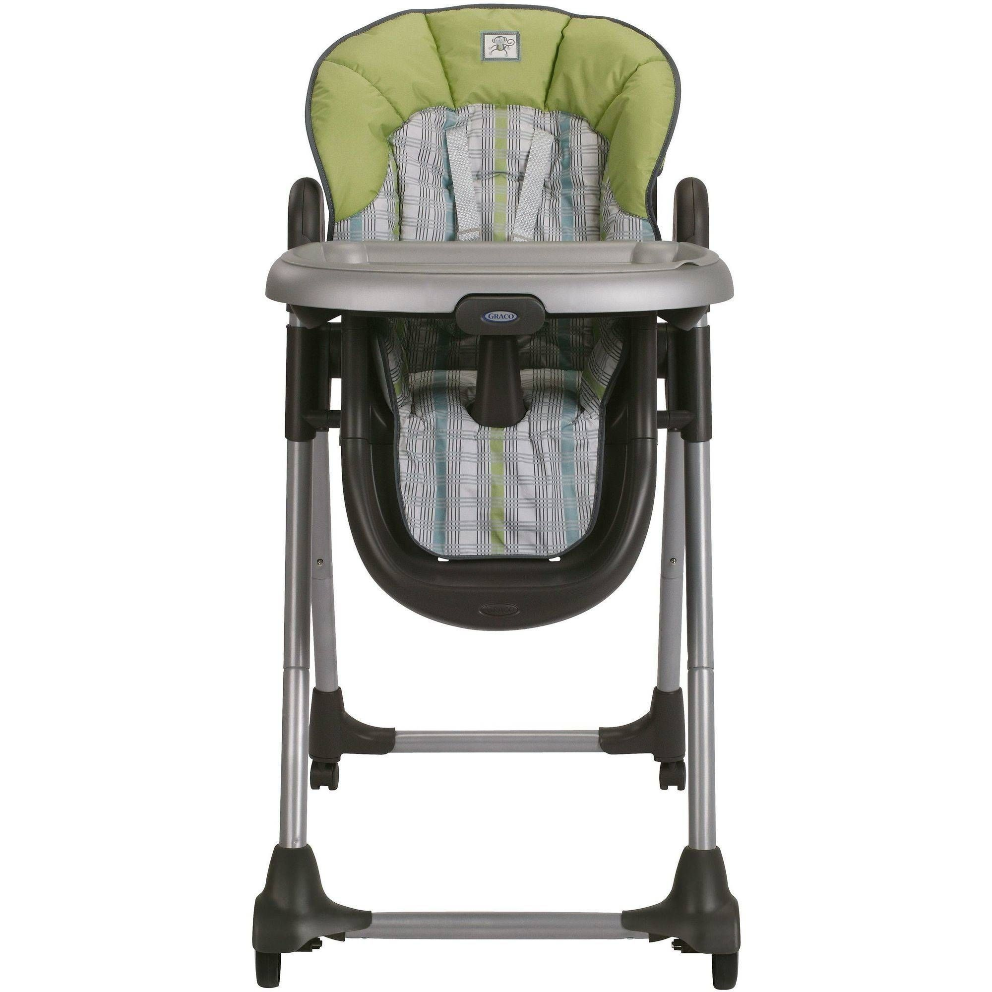 Graco High Chair Green With Pink Flowers