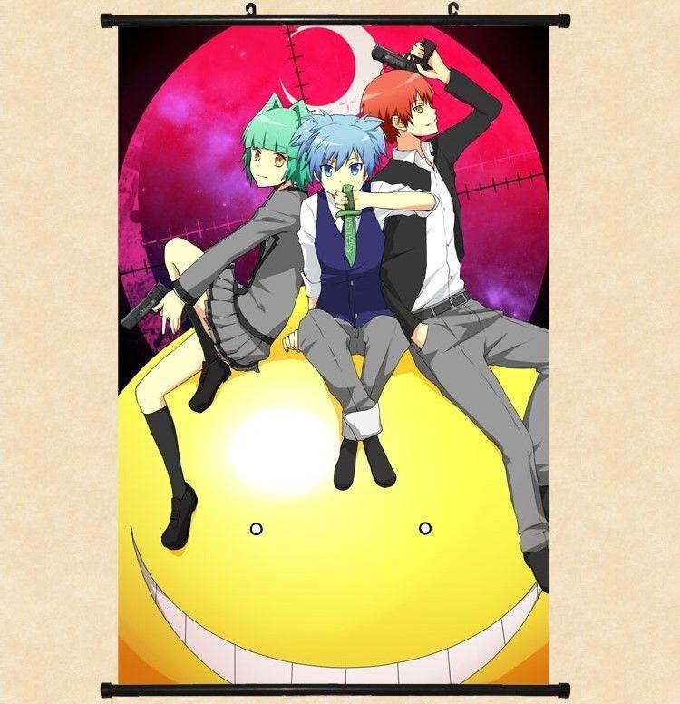 Ansatsu Kyoushitsu Assassination Classroom Anime Wall Poster Scroll Room Decor