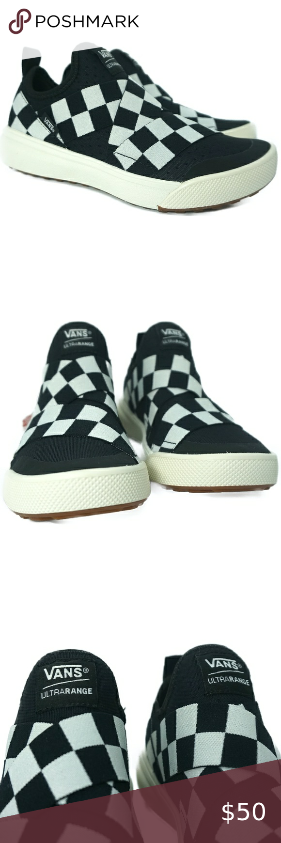 mega checkerboard vans