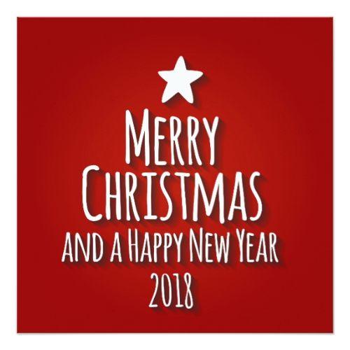 christmas new year 2018 tree party invitation