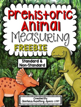 Prehistoric Animals Measuring Book FREEBIE --- Measuring Dinosaurs & MORE!