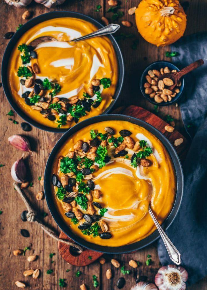 Cremige Kürbissuppe (vegan, einfach) - Bianca Zapatka | Rezepte