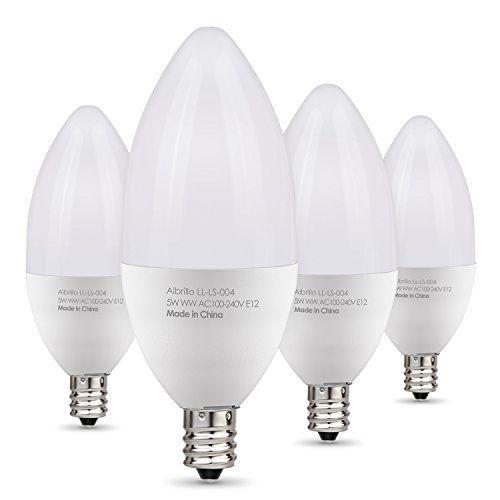 Albrillo E12 Led Bulb 5w 40 Watt Candelabra Bulbs Equivalent Chandelier Light Ceiling Fan Lights Wa Led Candelabra Bulbs Candelabra Bulbs Light Bulb Candle
