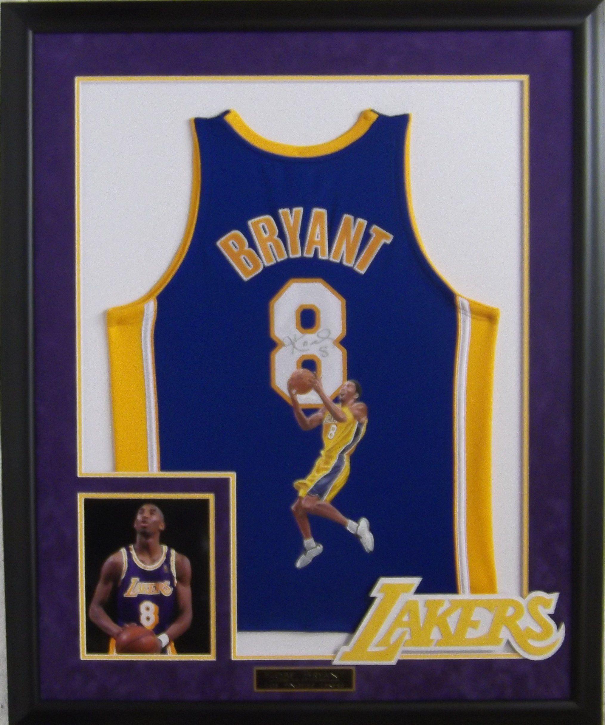 the latest 81bd1 48375 Kobe Bryant signed Lakers jersey framed #BlackMamba ...