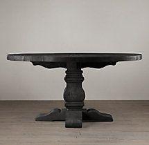 Pedestal Salvaged Wood Round Tables-Restoration Hardware