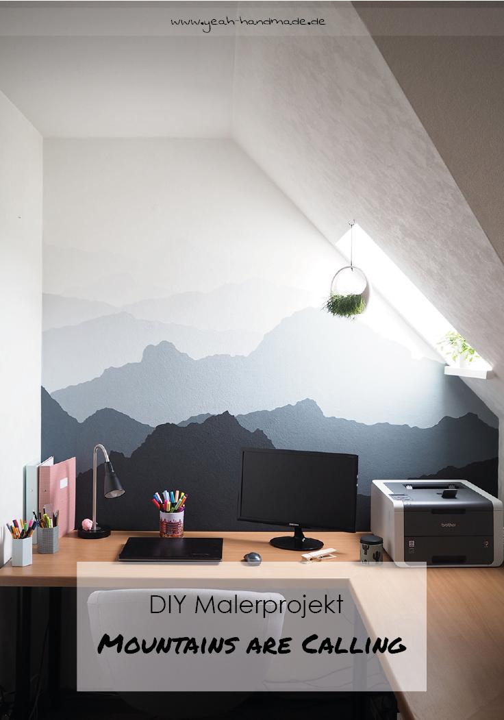 Charmant DIY Malerprojekt Für Schönes Wohnen: Holt Euch Die Berge Nach Hause Und  Malt Eine Berglandschaft An Eure Wand. Tipps U0026 Tricks Sowie Die Kreative  DIY ...
