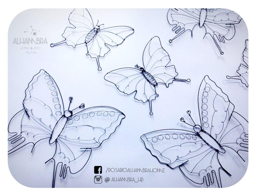Mariposa Mariposas Butterfly Butterflies Papillon Fil de fer wire