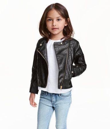 bd890e615 Biker Jacket | Black | Kids | H&M US | Kalea Inspo | Mode, Mode fille
