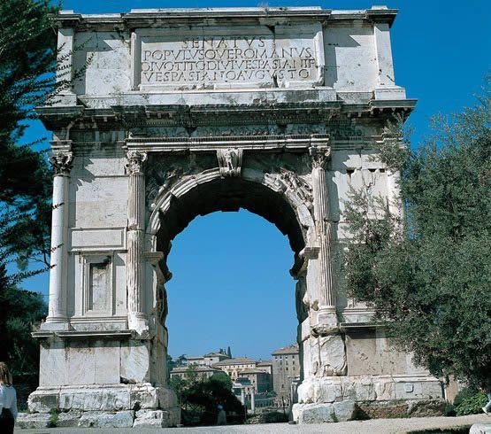 Arco de tito arte romano en 2019 roman architecture for Archi arredo roma