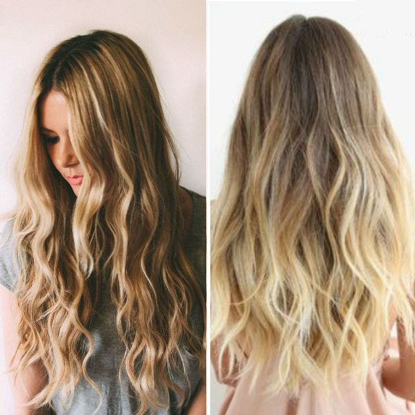 Top 20 best balayage hairstyles for natural brown black hair brown ombre balayage hairstyle with blonde highlight beautiful loose curls urmus Images