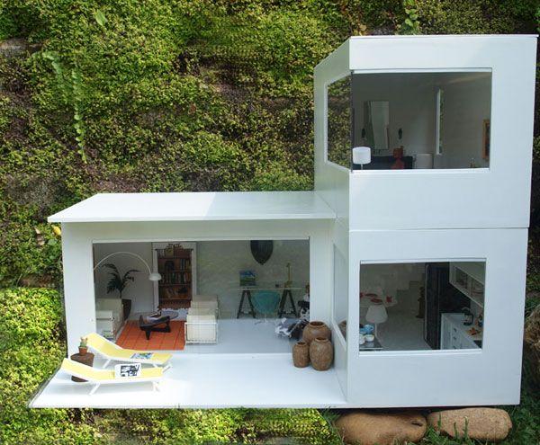 Pequeña casa de muñecas en miniatura Jaula de ss