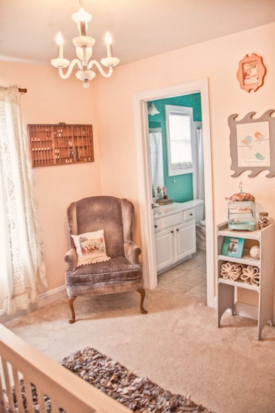 stella's peach & gray handmade room | home inspirations in