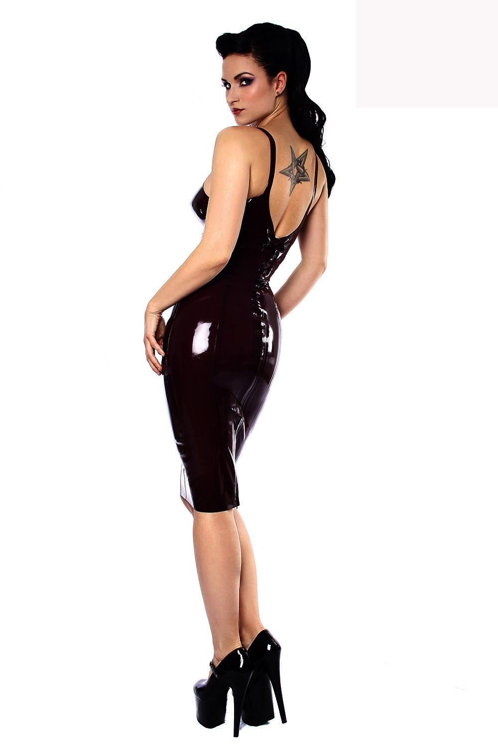 238cb0d452 Retro Styled Integral Structured Bullet-bra and A Zip Closure at Centre  Back Tight Sexy Pencil Dress Women Night Club Wear Dress - Lingerie Life  Lingerie ...