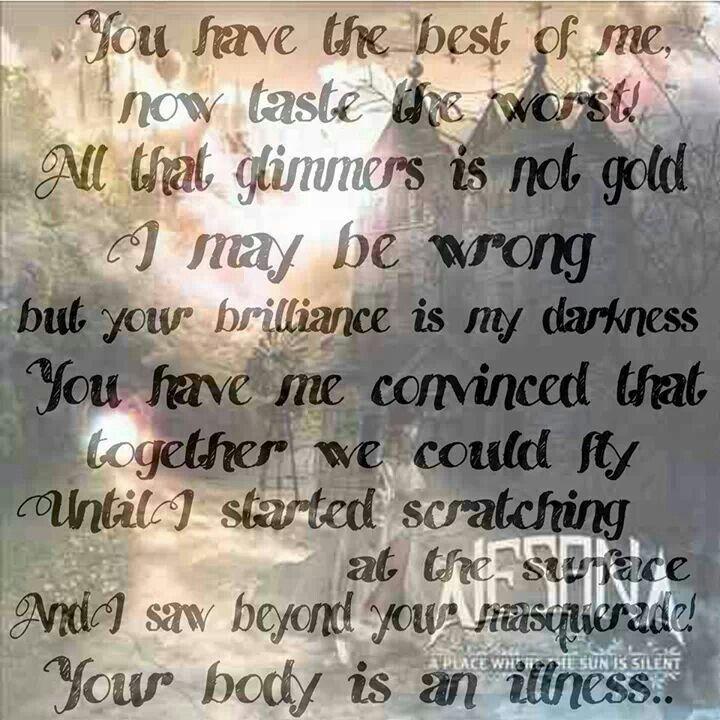 Lyric edit #Alesana Song: A Gilded Masquerade