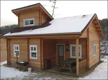 Planos casas de madera prefabricadas caba a con lucarna - Cabanas casas prefabricadas ...