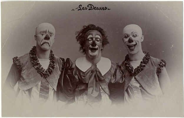 Old French Clowns Vintage Clown