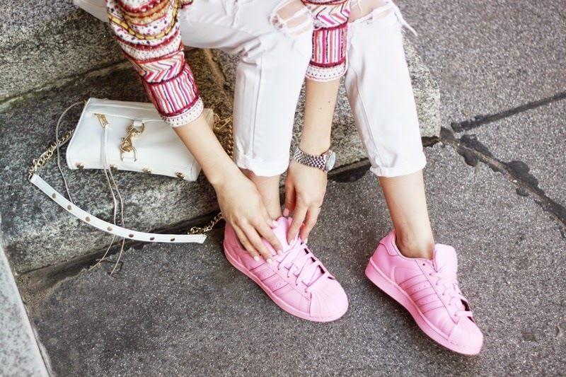 tenis rosa adidas superstar