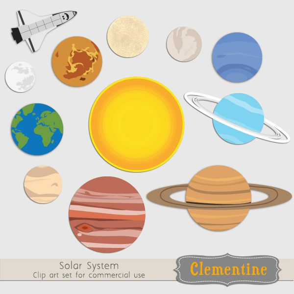 Solar System Clip Art | Montessori | Pinterest | Solar system, Solar and Activities