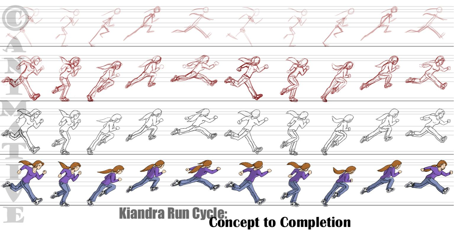 Image result for side pose realistic 2d characters drawings but i think it goes in the animation cat seeing as its well a run cycle and stuff any objections and ill kiandra run cycle frames jeuxipadfo Image collections