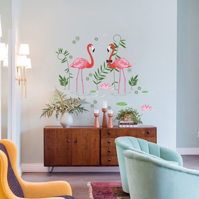 Flamingos wall decal sticker home store decor diy removable art vinyl mural for living room