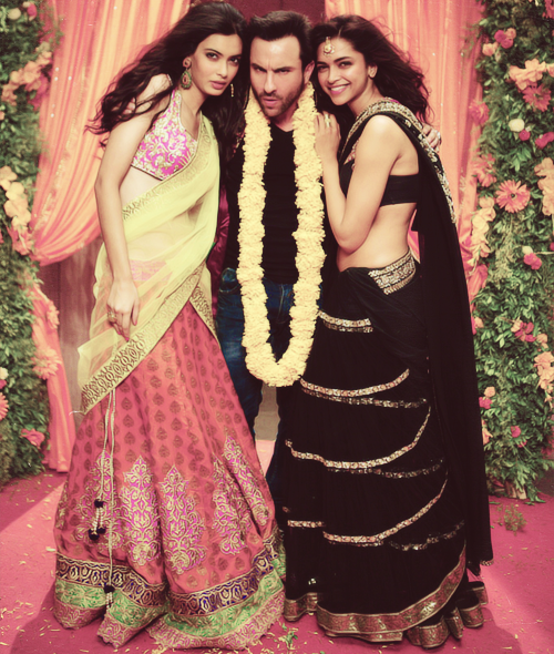 saif, diana penty, and deepika looking lovely in 'Cocktail'