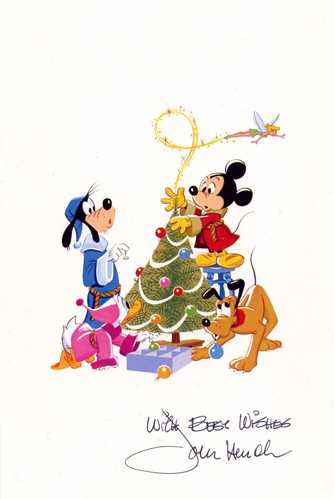 Disney Quotes For Christmas Cards: John Hench Signed Christmas Card 1982 (front)