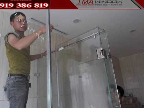 The Glass Shower Wall is being completed at Singapore Inter…