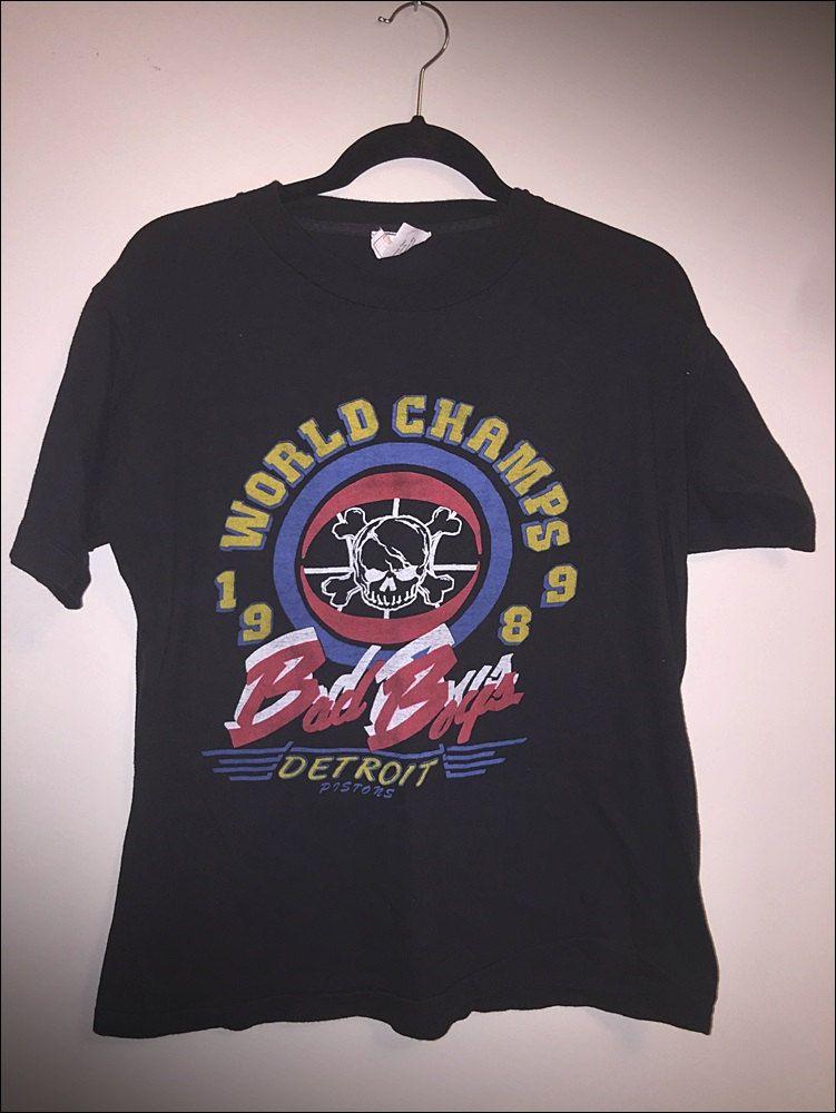Vintage 80 S Nba Detroit Pistons Nba Finals Champion Bad Boys Shirt Size Xl By Journeymanvintage On Etsy Boys Shirts Detroit Pistons Bad Boys
