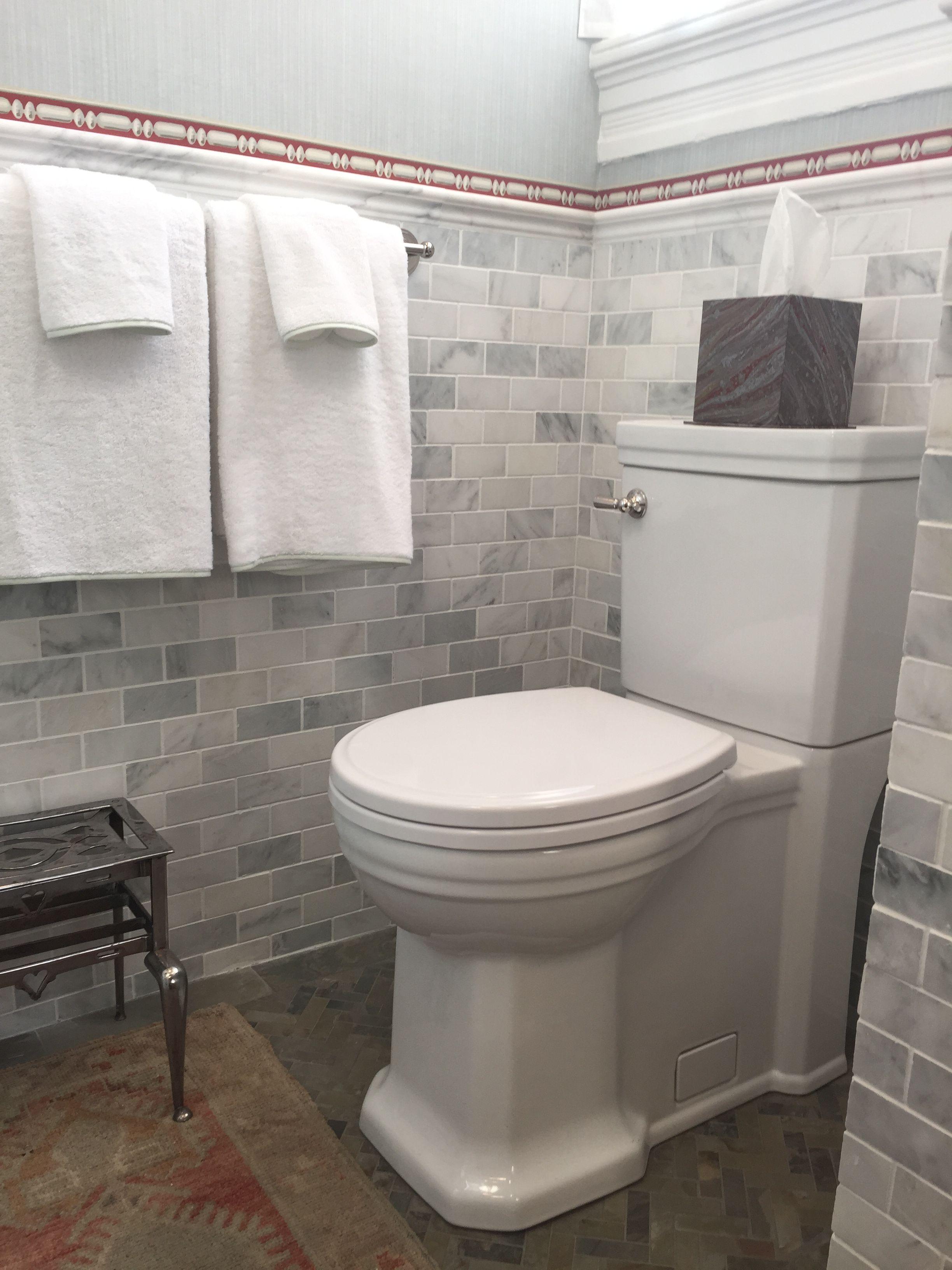 Second Floor Bathroom 2 By Olasky Sinsteden Featuring St George Two Piece Elongated Toilet Tile Floor Toilet Flooring