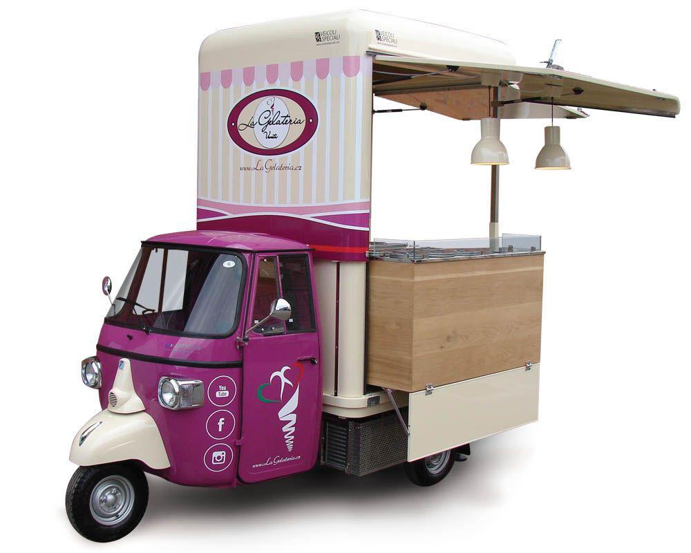 Ice Cream Shop Piaggio On Wheels In 2019 Kopi Pinterest Food