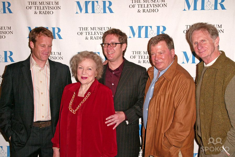 """Mark Valley, Betty White, James Spader, William Shatner and Rene Auberjonois at the """"Boston Legal"""" at the 22nd Annual William S. Paley TV Festival, Directors Guild of America, Los Angeles, CA 03-15-05"""