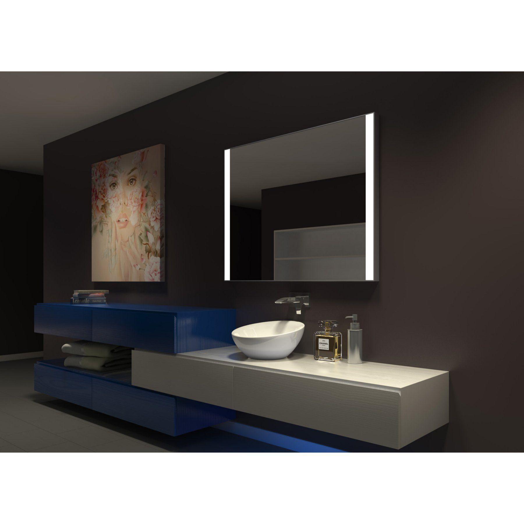 paris mirror galaxy ii illuminated bathroom wall mirror on custom bathroom vanity mirrors id=54148