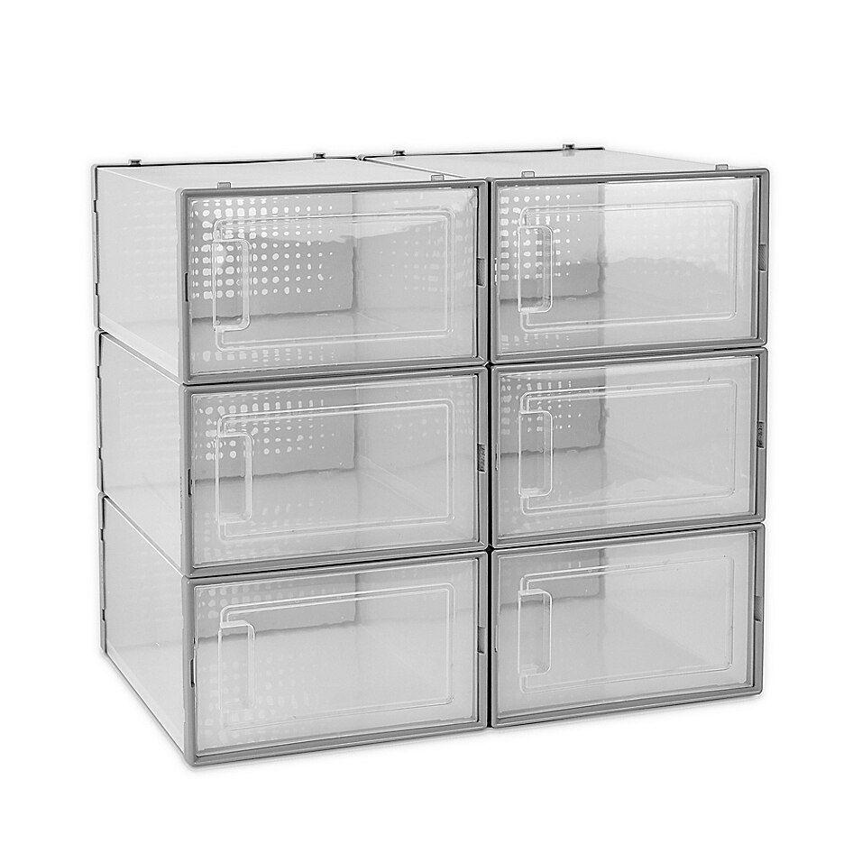 Swing Front Shoe Storage Bins Set Of 6 Bed Bath Beyond Shoe Storage Bins Clear Storage Bins Storage Bins [ 956 x 956 Pixel ]