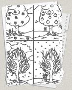 Ausmalbilder Jahreszeiten Ausmalbilder Ausmalen Jahreszeiten
