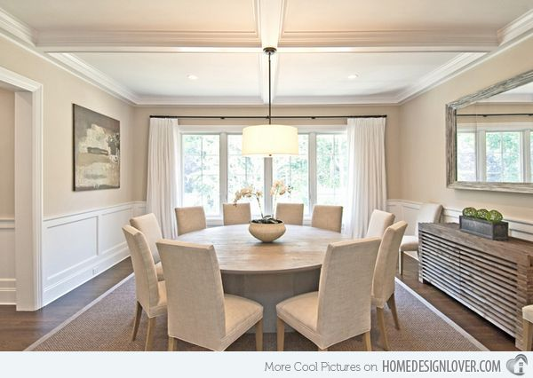 15 Stunning Round Dining Room Tables Traditional Dining Rooms