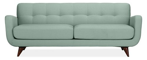 Room And Board   Anson Sofa In Spa Blue. Mid Century Modern Style Sofa With  Tufted Back And Curved Sides.