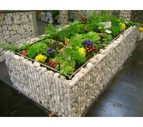 Gabionen Hochbeet Steine Im Garten Shop Stone Pinterest
