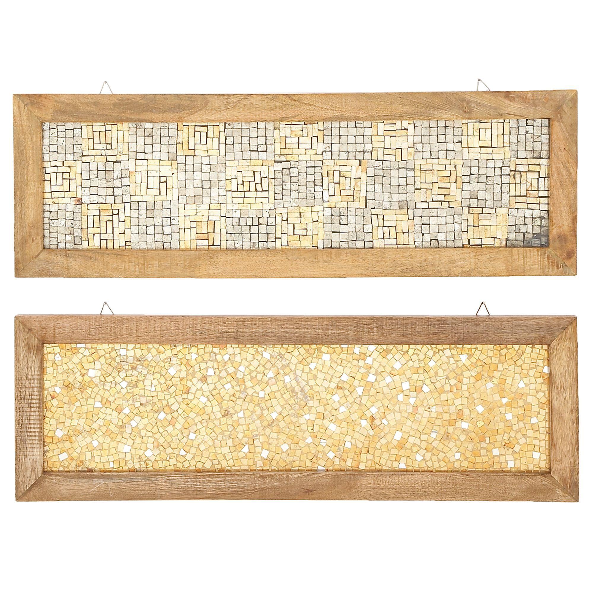 Urban Designs Handcrafted Orange Cracked-mosaic Decorative Wall Art ...