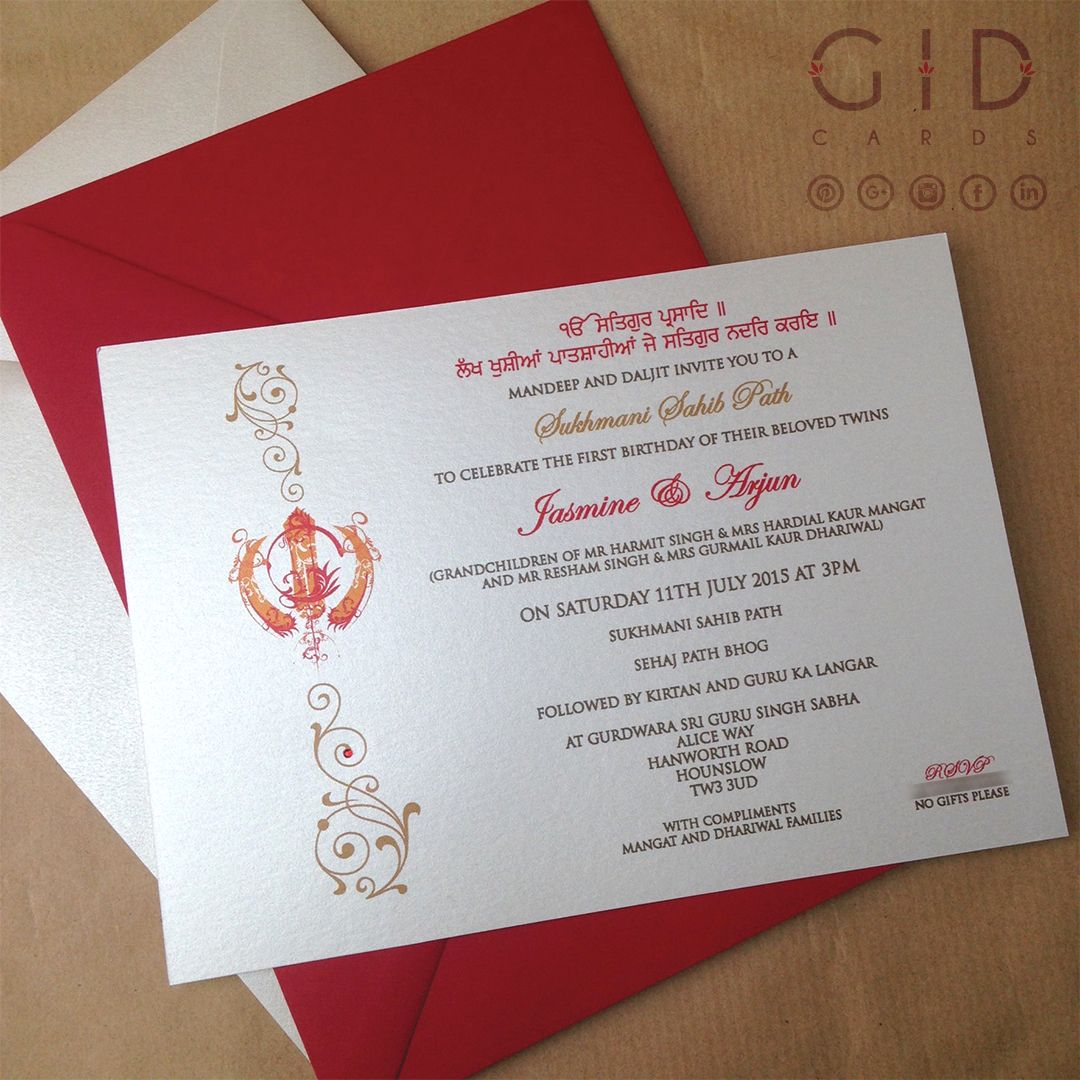 A custom layout and accent fonts gives this invitation a classy look ...