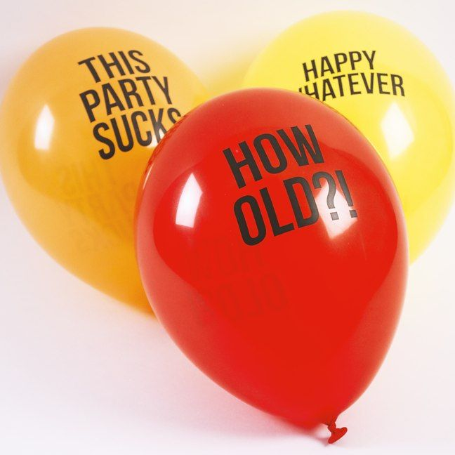 Blunt Balloons Firebox Com Shop For The Unusual Abusive Balloons Party Balloons Balloons