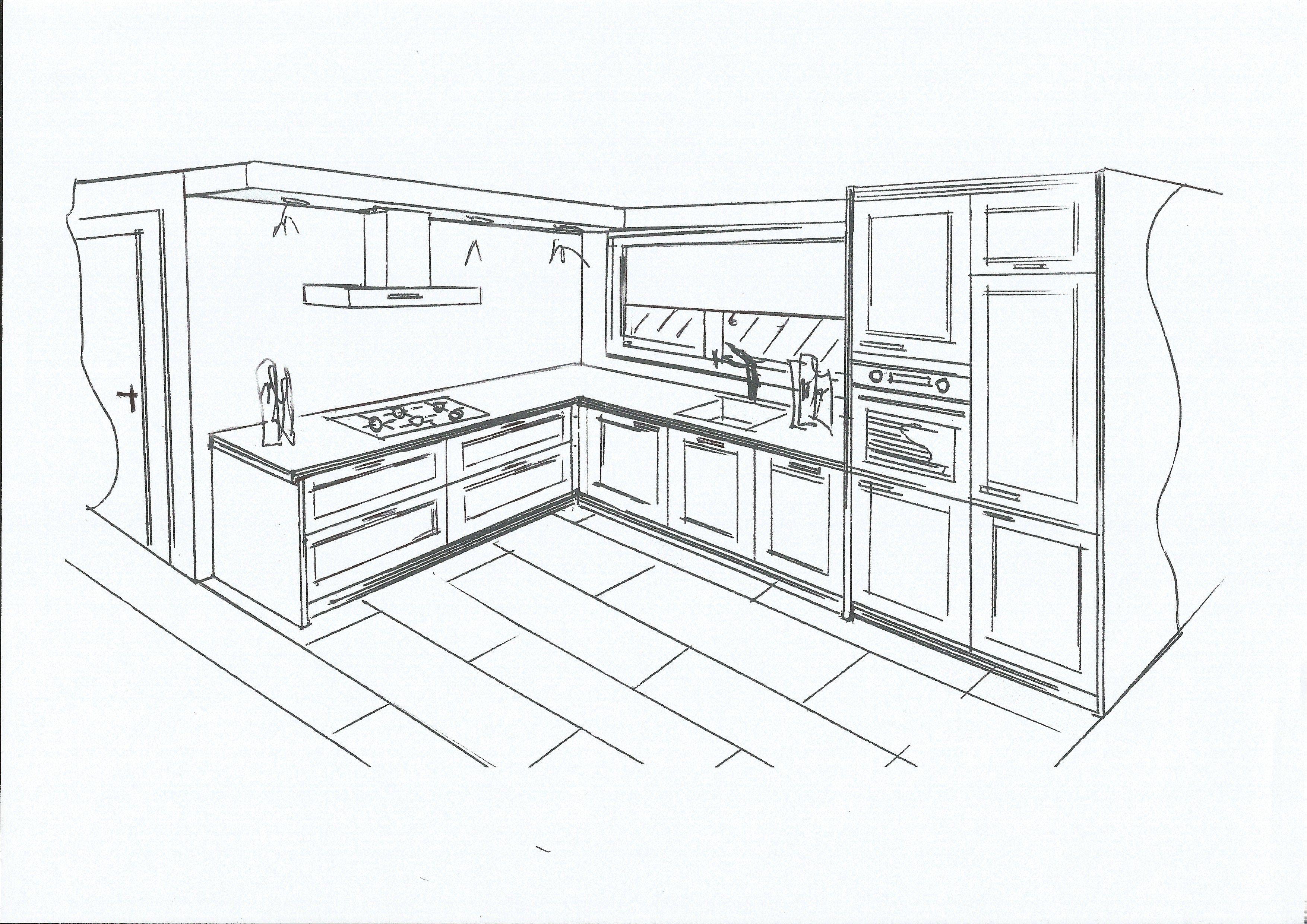 в чем рисовать чертеж мебели