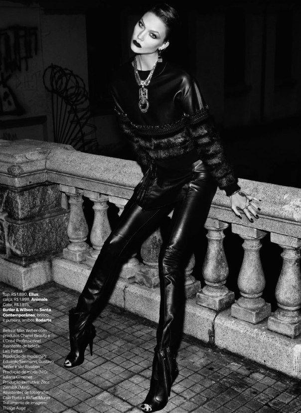 Karlie Kloss by Henrique Gendre for Vogue Brazil July 2014