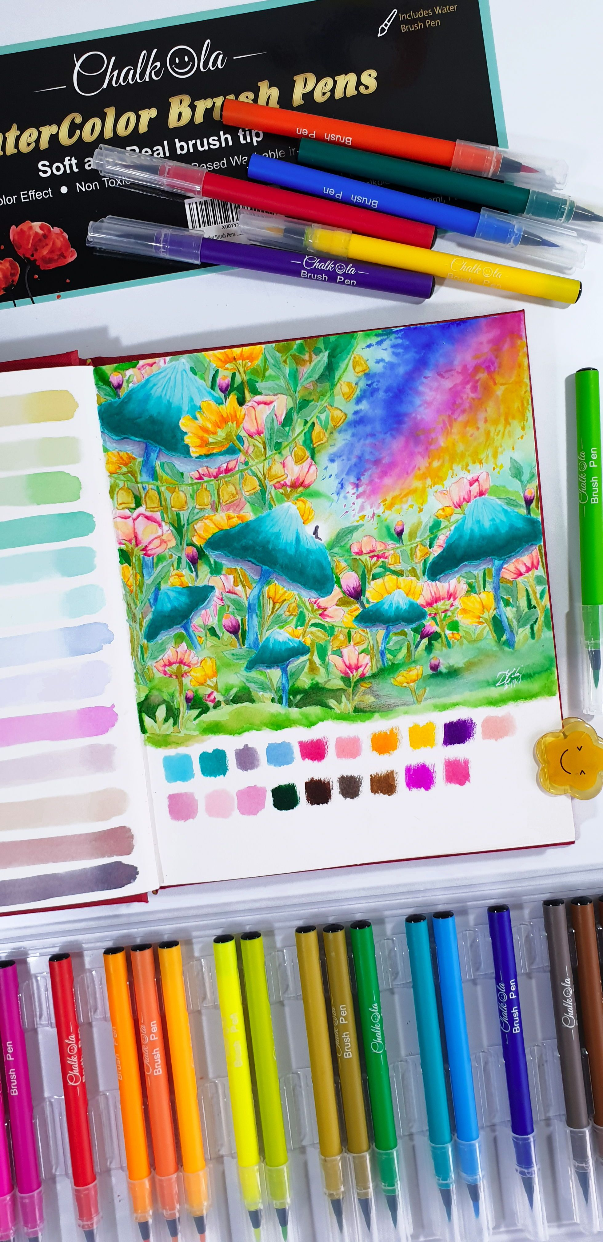 These Watercolor Brush Pens Are Amazing Artprojects Diy