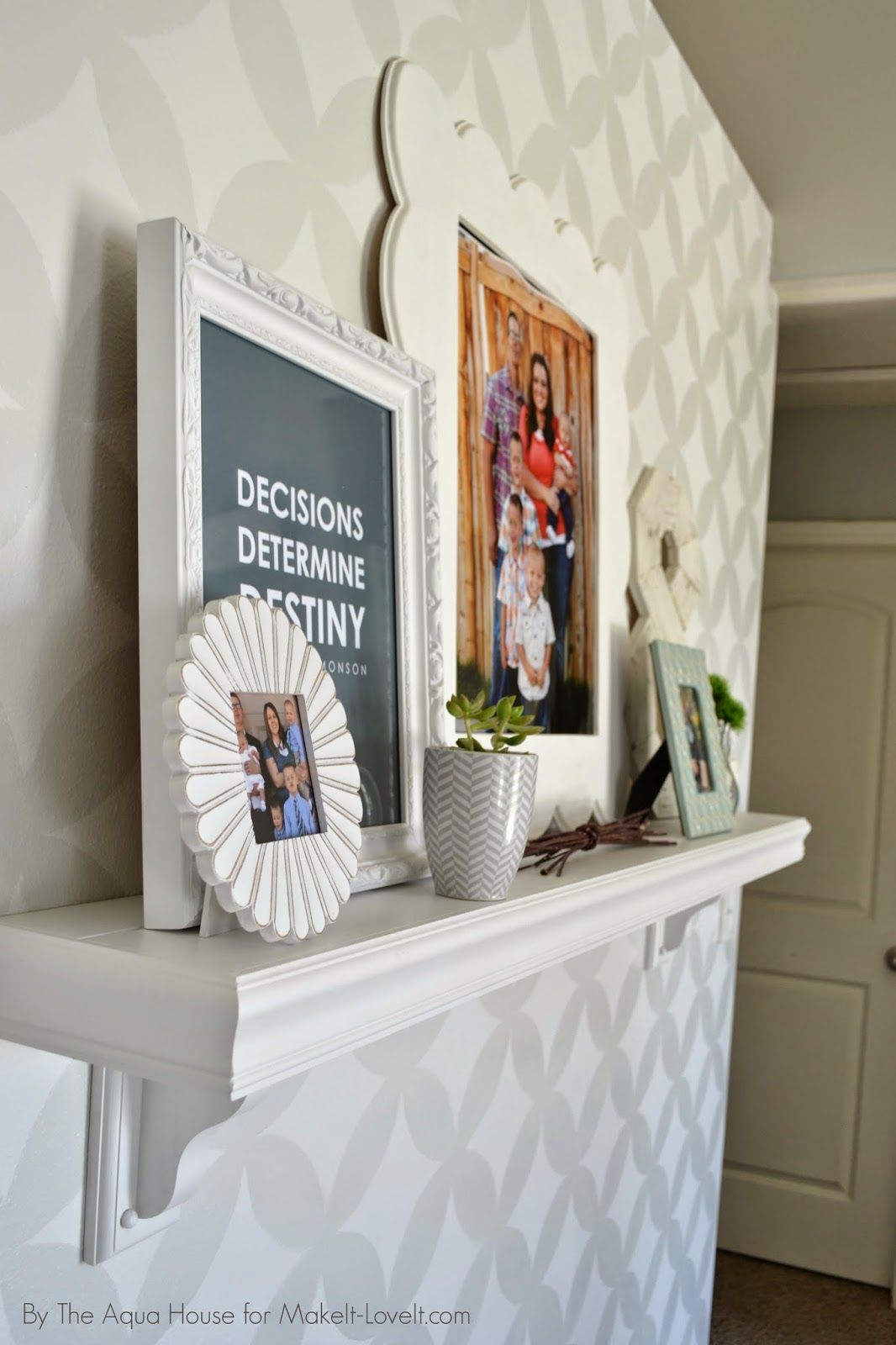 Faux fireplace mantle for those without a fireplace home family