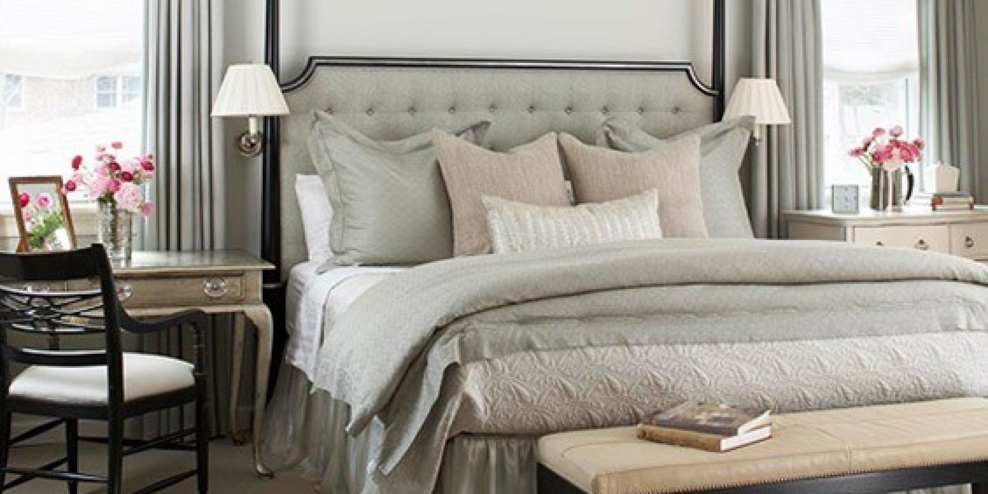4 room master bedroom design  mismatched nightstands  Google Search  Master bedroom  Pinterest