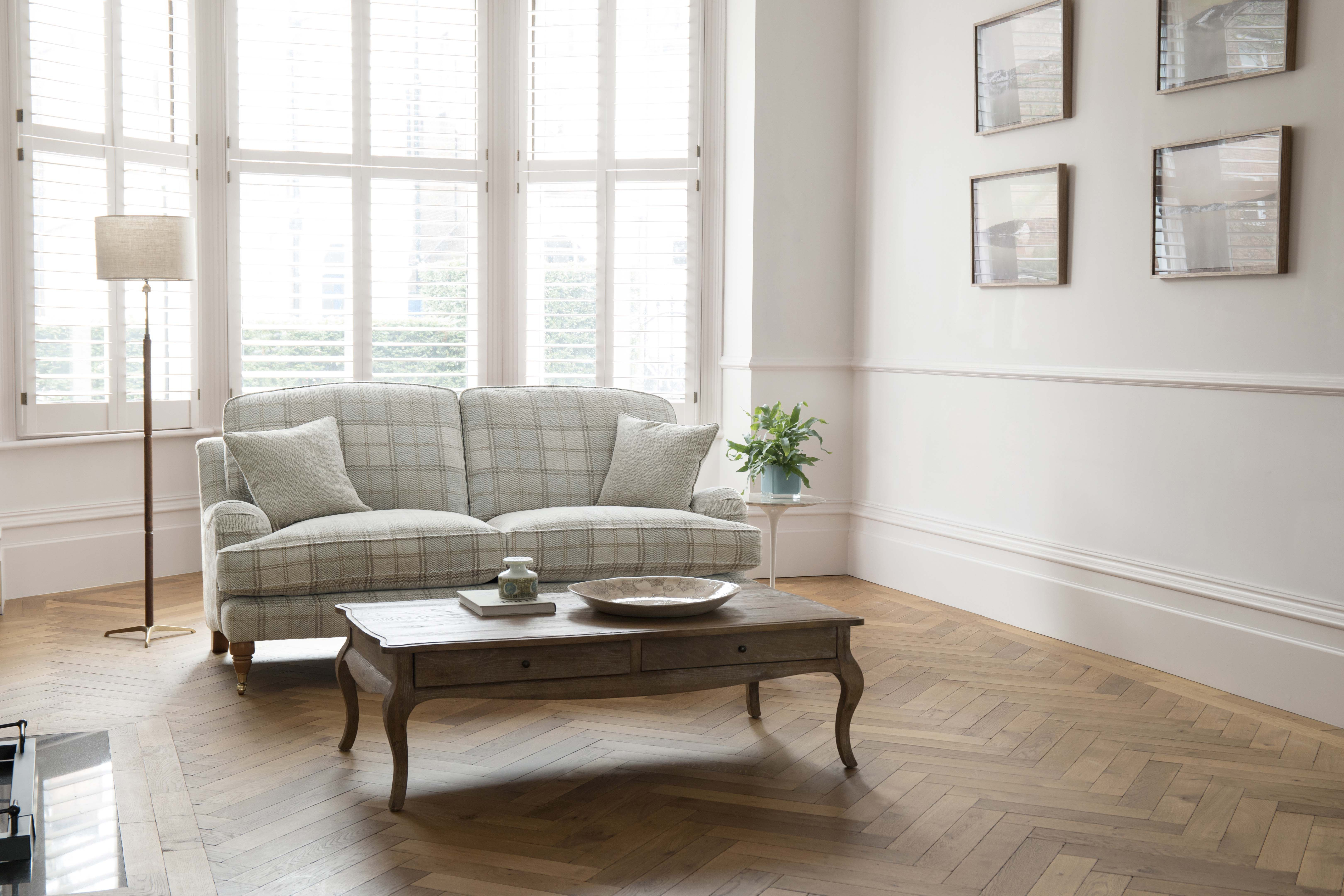 Introduce a subtle plaid pattern with out beautiful Seaton sofa ...