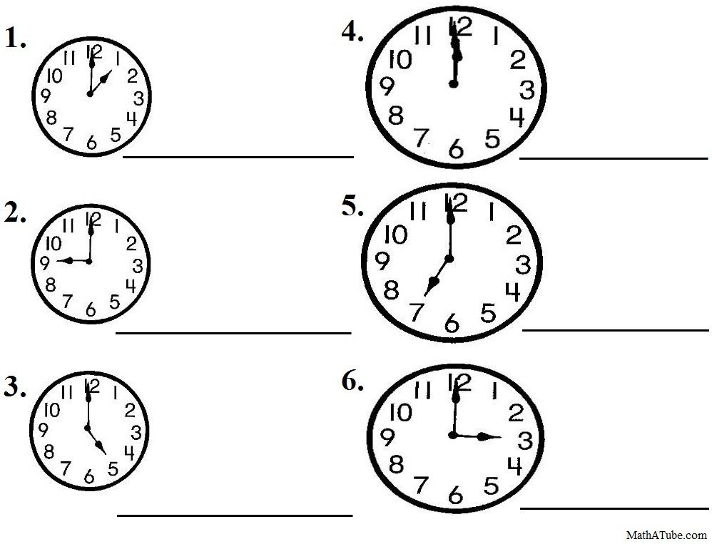 Free Telling Time Worksheets Missing hands Time Clock – Telling Time Worksheets Kindergarten