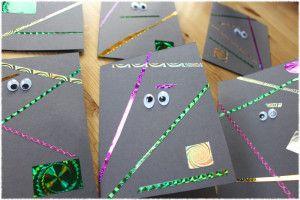 Einladung Zum Kindergeburtstag, Minigolf Im Dunkeln, Geburtstag, Aus  Papier, Mit Wackelaugen